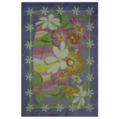 Supreme Wildflowers Multi Colored 39 in. x 58 in. Area Rug