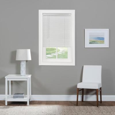 25 in. W x 64 in. L White Cordless 1 in. Light Filtering Vinyl Blind