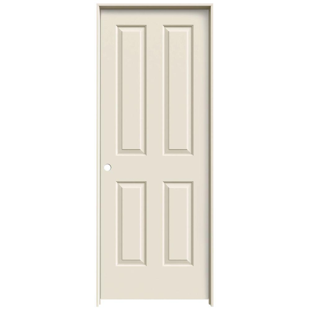 JELD-WEN 24 in. x 80 in. Coventry Primed Right-Hand Smooth Molded Composite MDF Single Prehung Interior Door