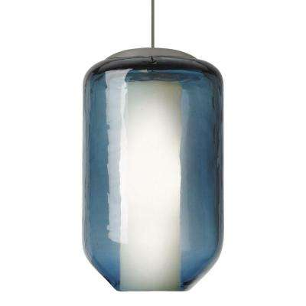 Lbl lighting blue mini pendant lights lighting the home depot mini mason 1 light bronze xenon mini pendant with steel blue shade aloadofball Images