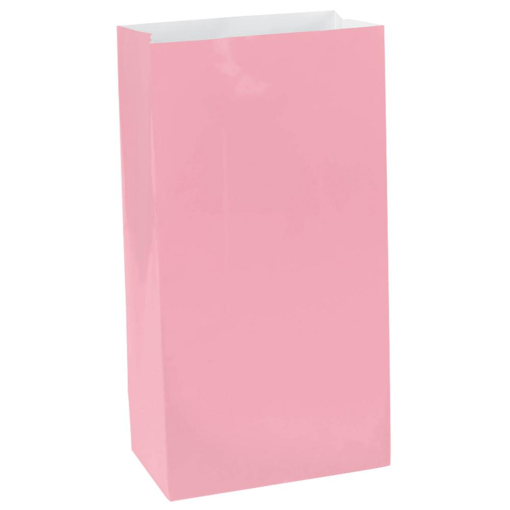 10 in. x 5.25 in. Pink Paper Bags (12-Count, 9-Pack)