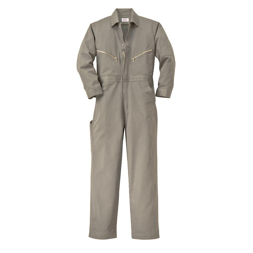 759ed9d918a1f Walls Twill Non-Insulated 50 in. Tall Long Sleeve Coverall in Khaki ...