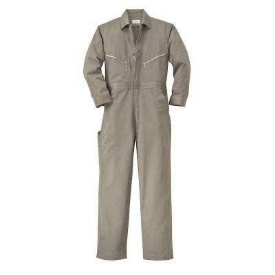 Twill Non-Insulated 50 in. Tall Long Sleeve Coverall in Khaki