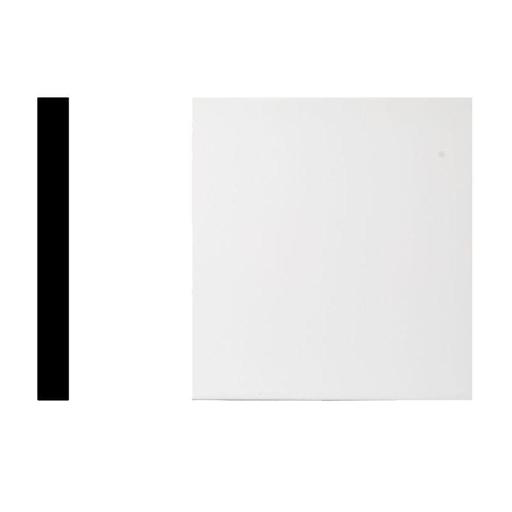 7312-1 in. x 8 in. x 8 ft. PVC Vinyl White Trimplank S4S Moulding