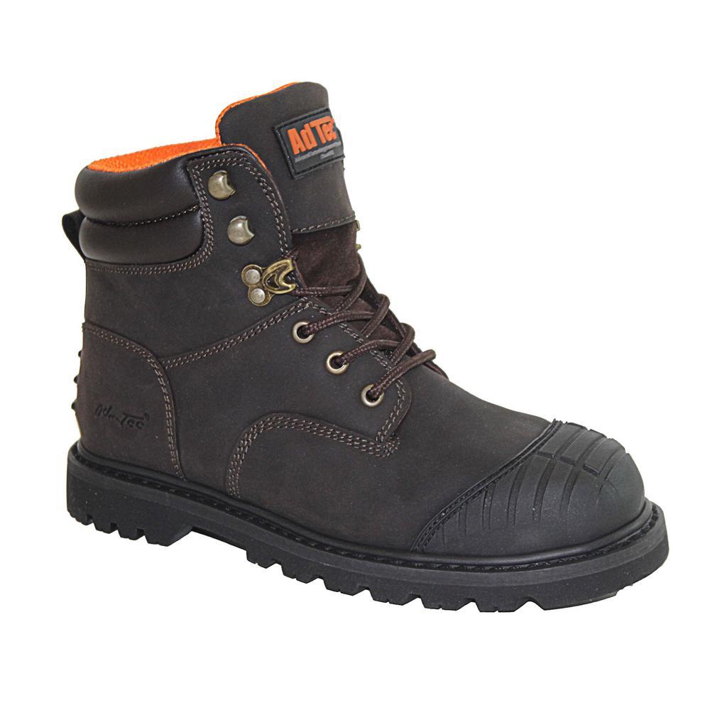61402497c0e Adtec Men's Medium 8.5 Brown Crazy Horse Oiled Leather Steel Toe Work Boot