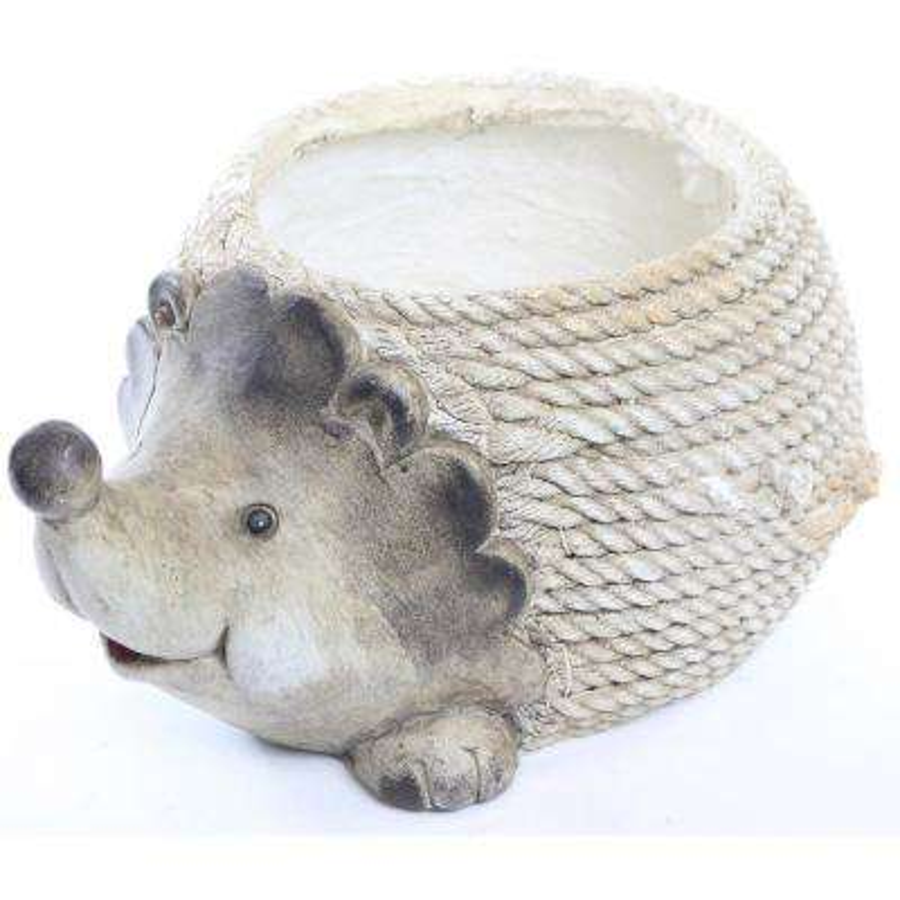 Hedgehog Rope Resin Planter