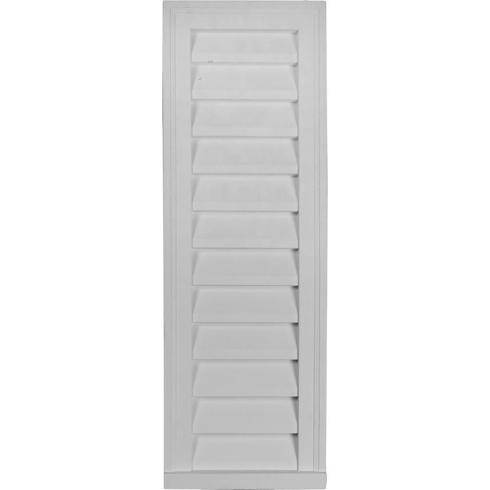 Ekena Millwork 2 in. x 12 in. x 36 in. Decorative Vertical Gable Louver Vent