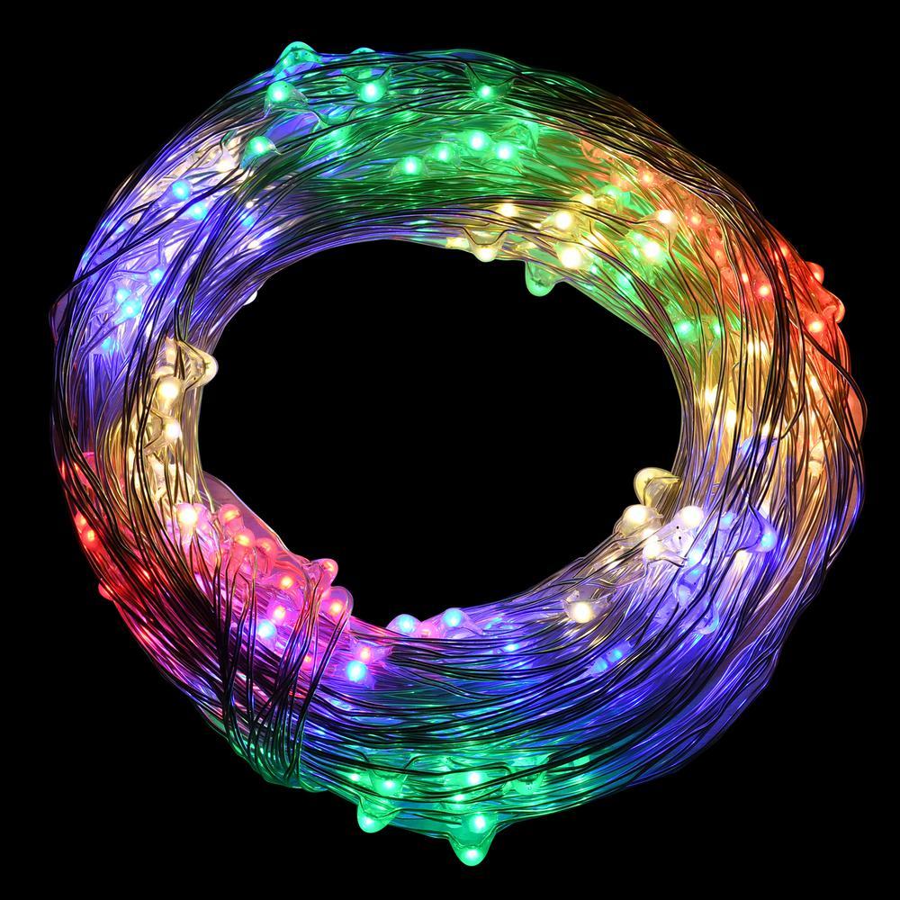 300-Lights LED Multi-Color Electric Multi-Strand Fairy String Lights