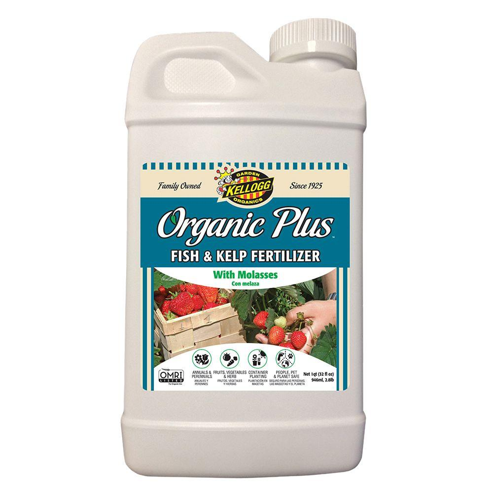 Kellogg Garden Organics 32 oz. Organic Fish and Kelp Liquid Fertilizer