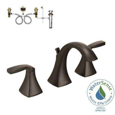 Voss 8 in. Widespread 2-Handle High-Arc Bathroom Faucet Trim Kit with Valve in Oil Rubbed Bronze