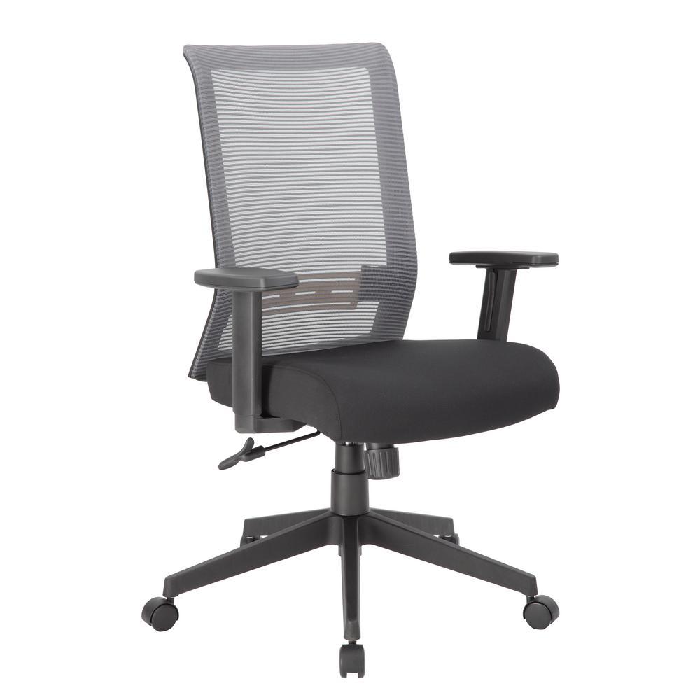 Grey Executive Mesh Back Desk Chair Adj Arms