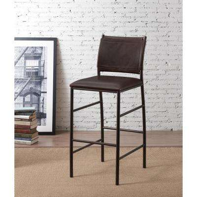Colton 26 in. Bourbon Cushioned Bar Stool