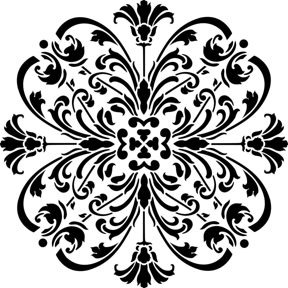 Turn of the Century Medallion Stencil