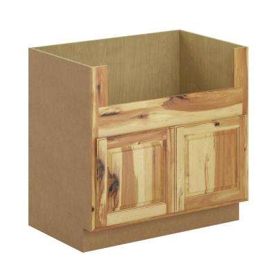 Madison Assembled 36x34.5x24 in. Farmhouse Apron-Front Sink Base Cabinet in Hickory