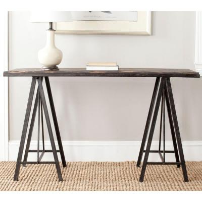 Troy 54 in. Dark Brown Standard Rectangle Wood Console Table