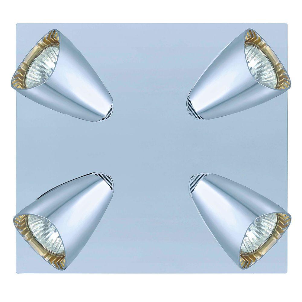 Corbera 4-Light Chrome Ceiling Track Light