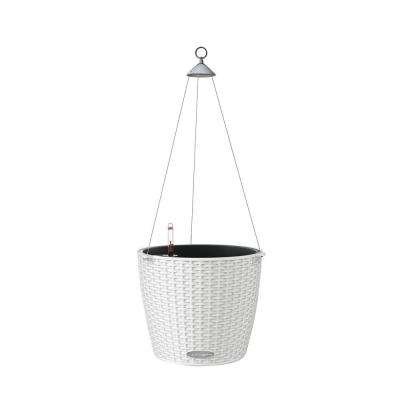 Trend Nido Cottage Hanging Basket 9 in. dia. White Self Watering Plastic Planter