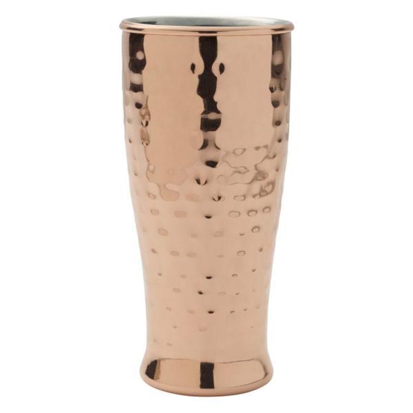 Mikasa 16 oz. Hammered Double Wall Copper Plated Pilsner 5210551