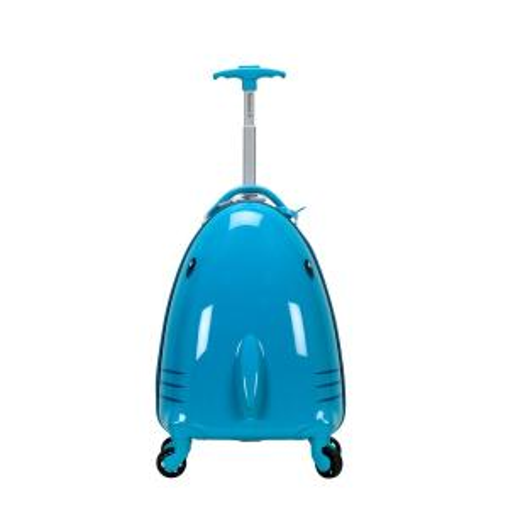 Rockland 17 in. Jr. Kids' My First Polycarbonate Hardside Spinner Luggage, Shark