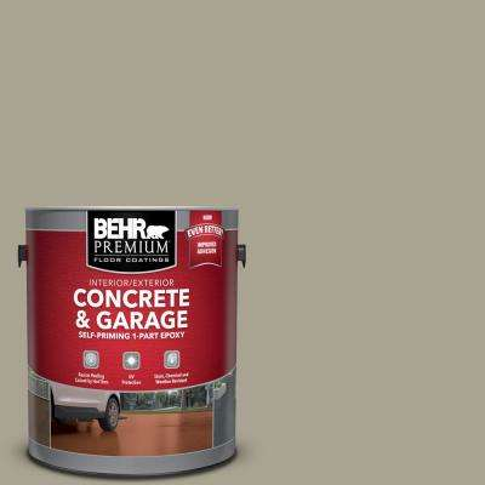 1 gal. #PFC-37 Putty Beige Self-Priming 1-Part Epoxy Satin Interior/Exterior Concrete and Garage Floor Paint
