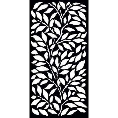 Jungle 0.3 in. x 71 in. x 2.95 ft. Recycled Plastic Decorative Screen in Slimline Frame in Charcoal (Bundle of 3)