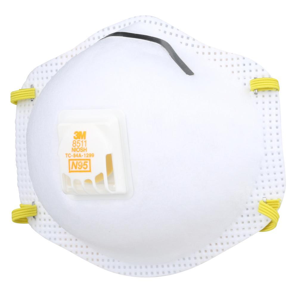 N95 Sanding and Fiberglass Valved Respirator (5-Pack)