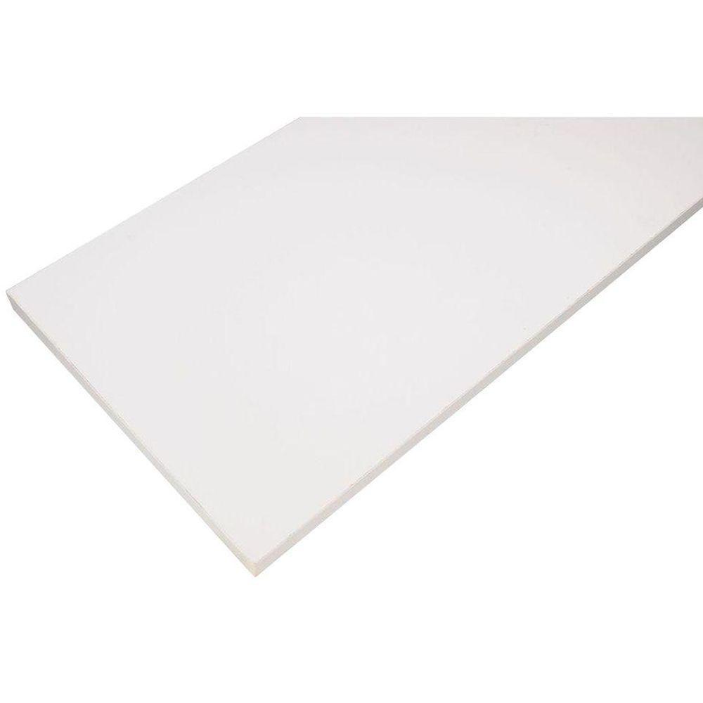 White Laminated Wood Shelf 12 in. D x 72 in. L