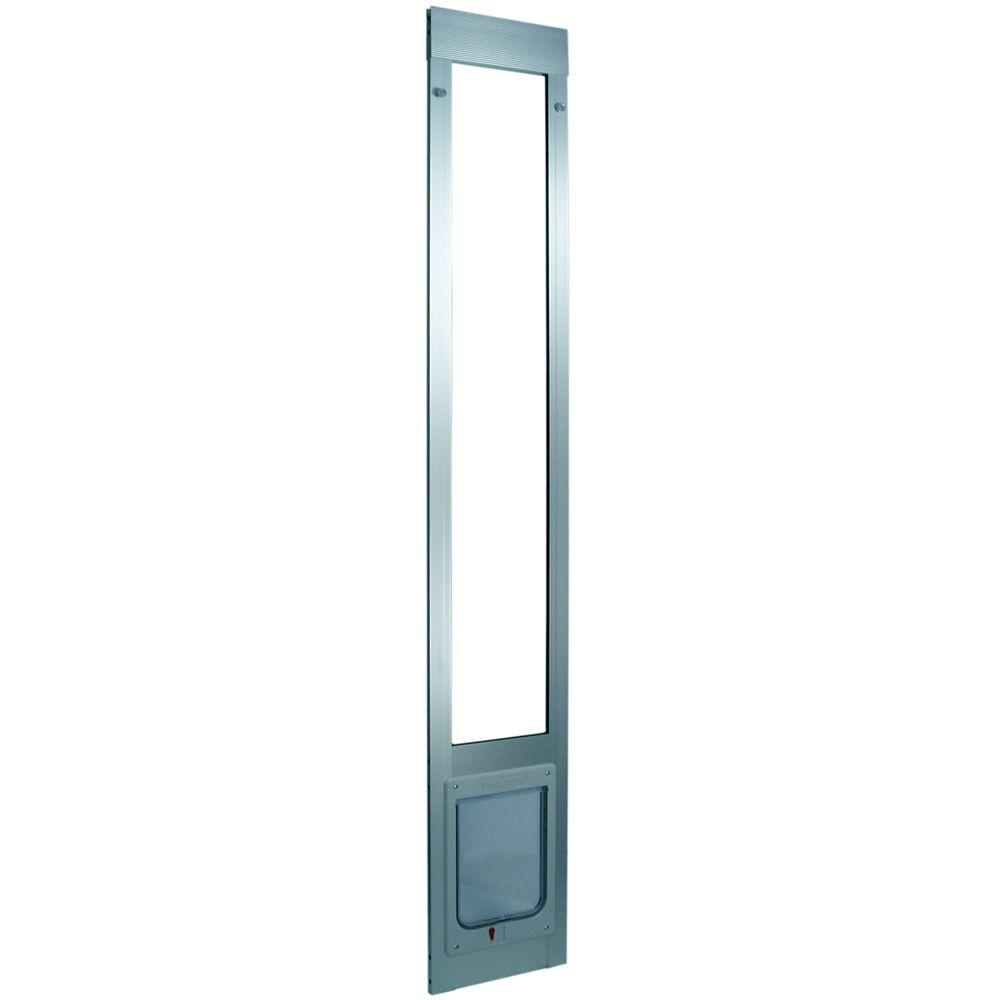 Ideal Pet 7.5 in. x 10.5 in. Large Chubby Kat Mill Aluminum Pet Patio Door Fits 75 in. to 77.75 in. Shorty Aluminum Slider
