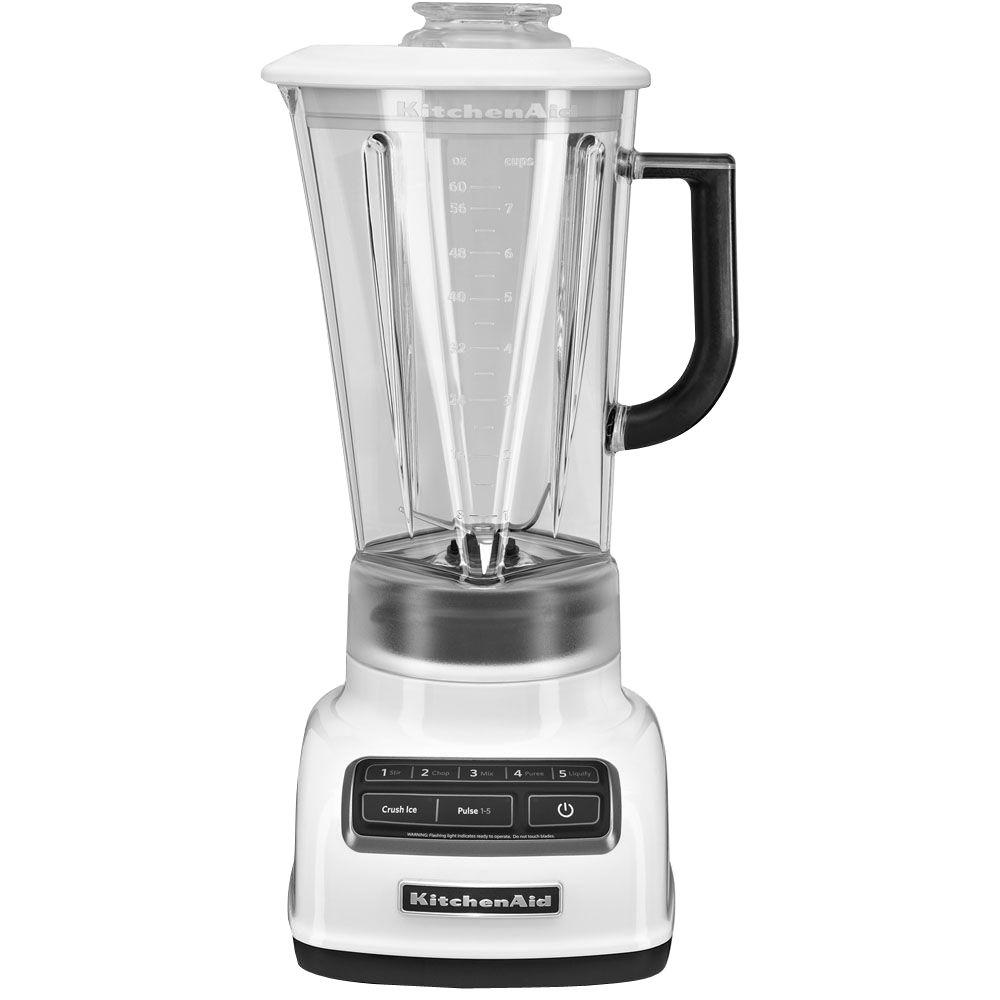 KitchenAid 5-Sd Blender-KSB1575WH - The Home Depot on vortex blender, breville bbl605xl hemisphere control blender, margaritaville blender, 25 diamond blender, nutribullet ninja blender, best smoothie blender, black diamond blender, vitamix 5200 blender, orange juice blender, cuisinart diamond blender, red blender, blendtec blender, kitchen blender, cuisinart hand blender, cobalt blue vitamix blender, color blender, oster blender, kenwood kmix hand blender,