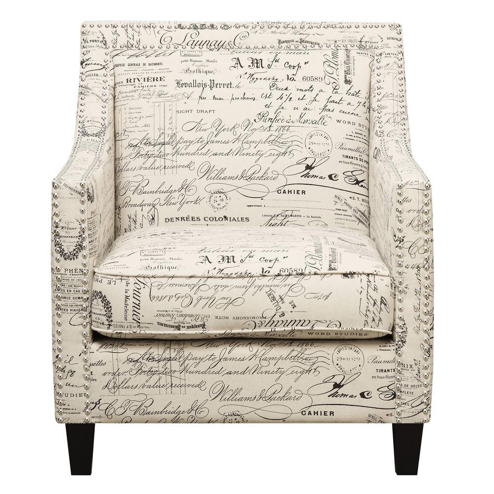 Emery French Script Arm Chair