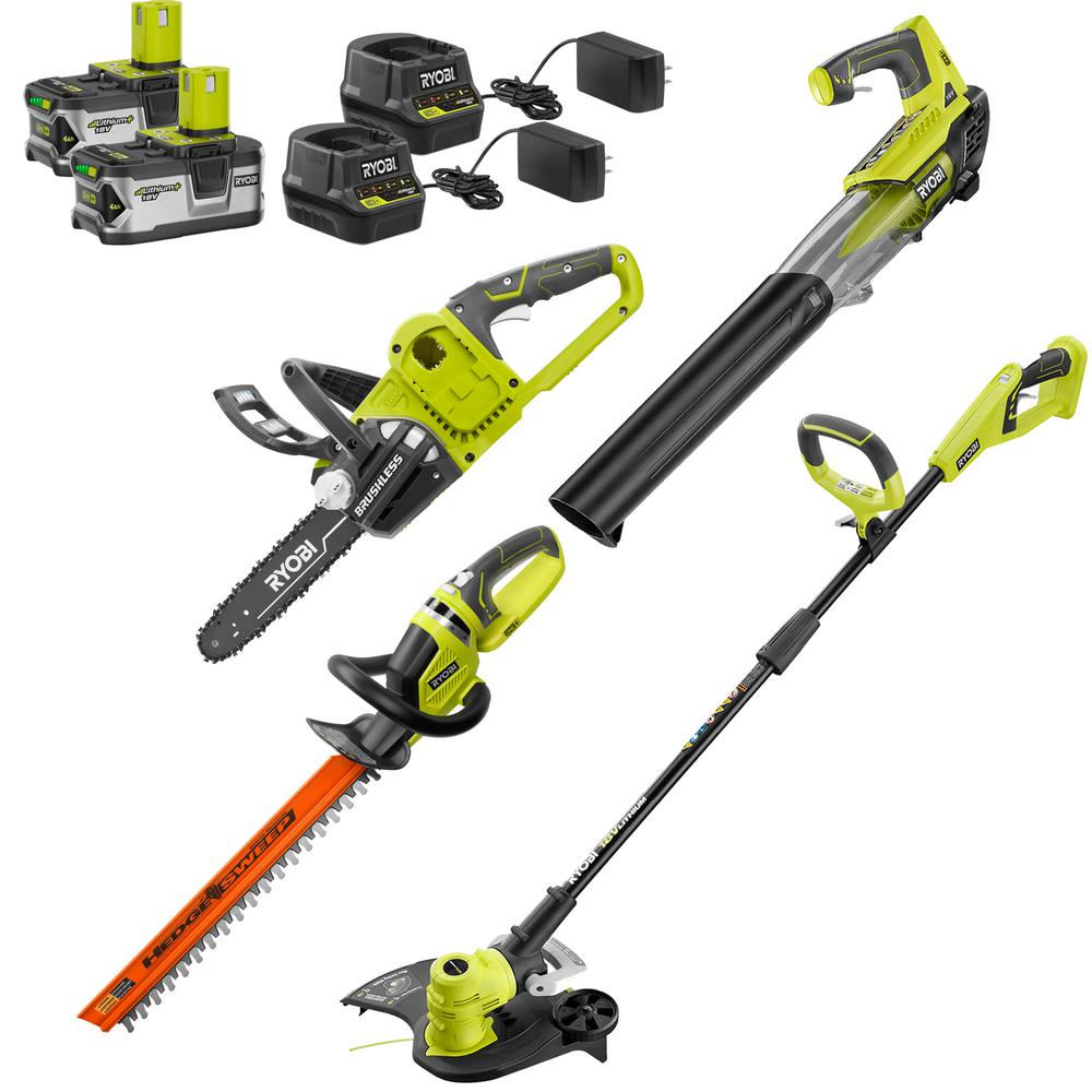 String Trimmer Edger Leaf Blower Cordless Combo Kit Charger Battery Weed Wacker