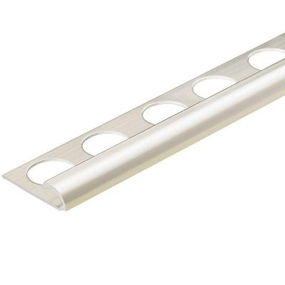 Polished Chrome Anodized 5/16 in. x 98-1/2 in. Aluminum R-Round Bullnose Tile Edging Trim