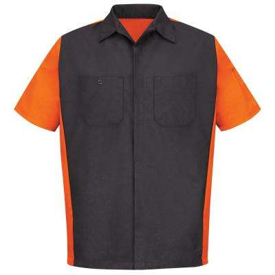 Men's Large Charcoal/Orange Crew Shirt