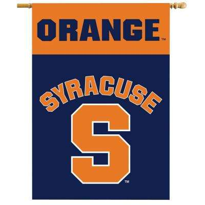 NCAA 28 in. x 40 in. Syracuse 2-Sided Banner with Pole Sleeve