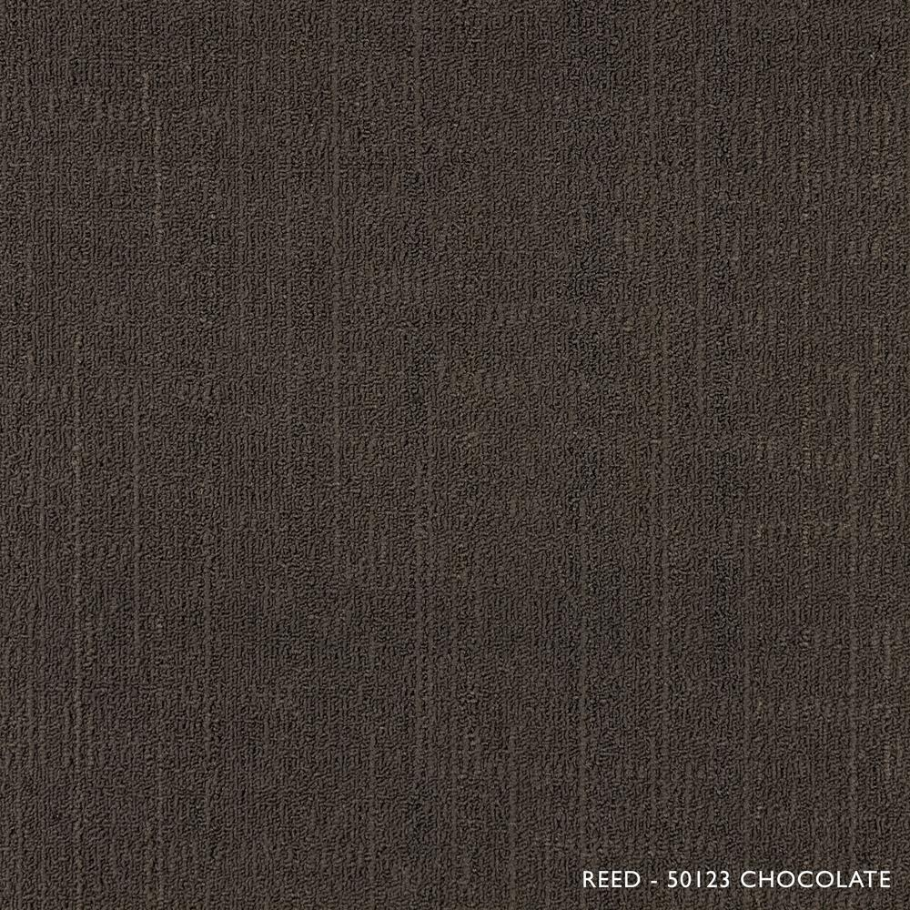 Reed Chocolate Loop 19.68 in. x 19.68 in. Carpet Tiles (8