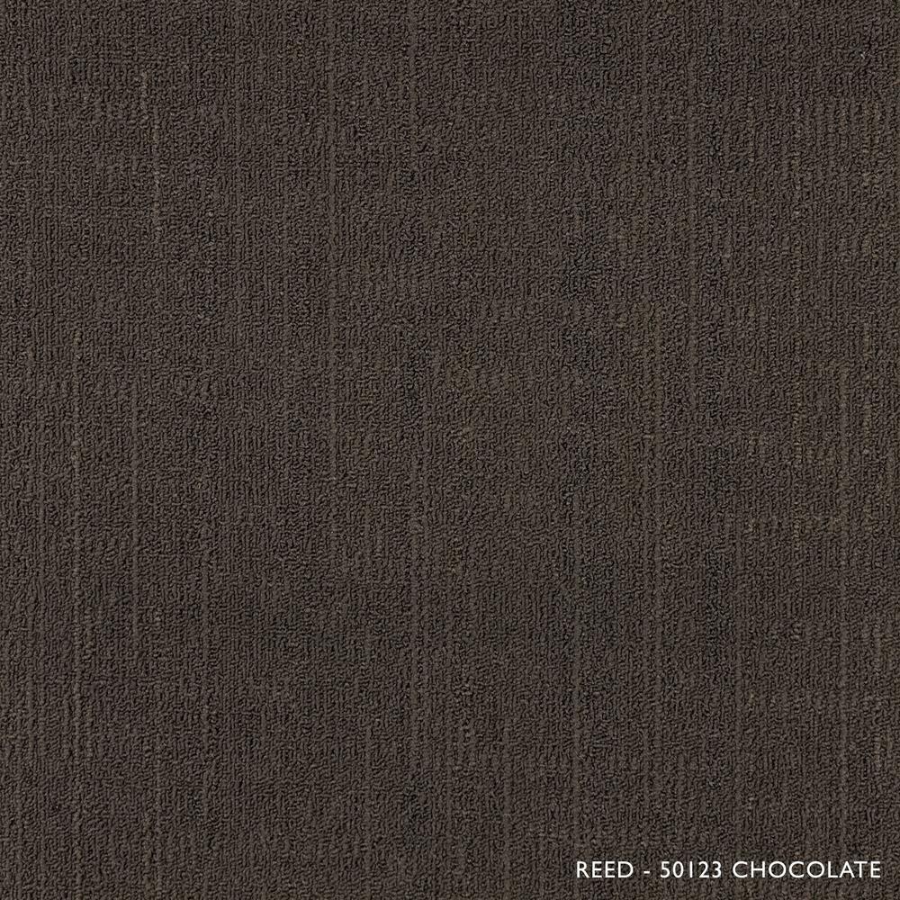 Reed Chocolate Loop 19.68 in. x 19.68 in. Carpet Tiles (8 Tiles/Case)