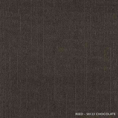 Reed Chocolate Loop 19.68 in. x 19.68 in. Carpet Tiles (8 Tiles/Case)