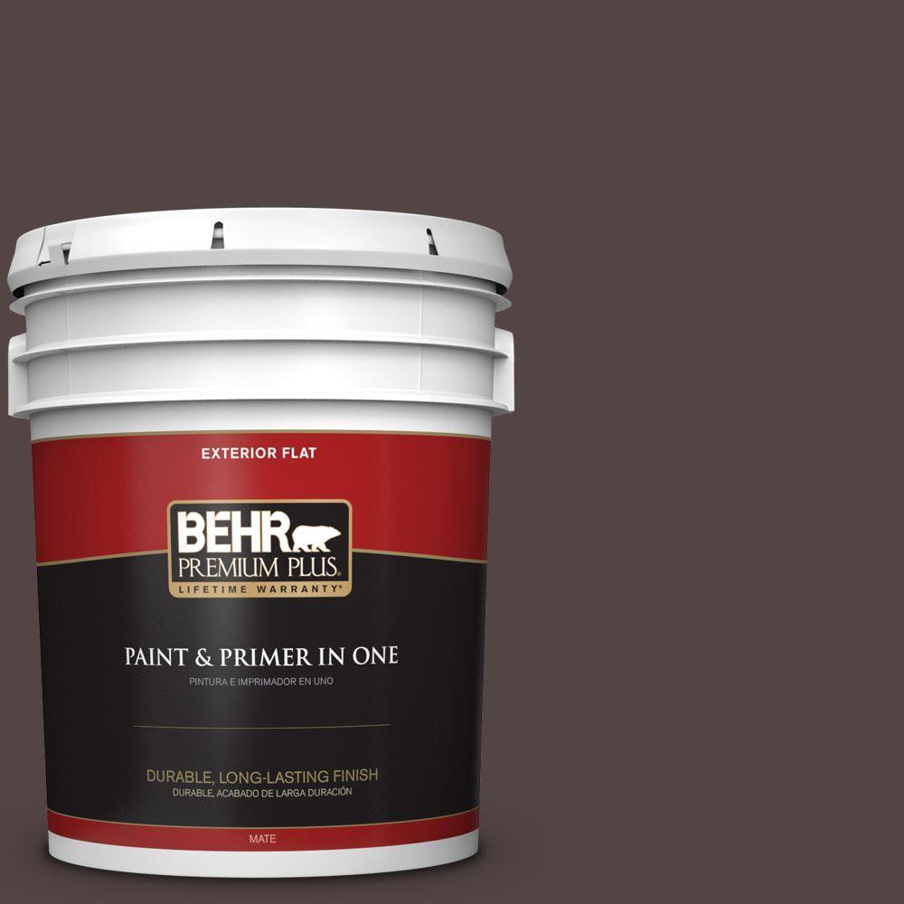 BEHR Premium Plus 5-gal. #HDC-MD-13 Rave Raisin Flat Exterior Paint