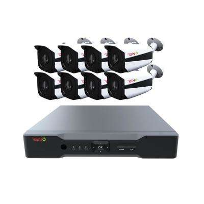 Aero HD 8-Channel 5MP 2TB Video Security System with 8 Indoor/Outdoor Bullet Cameras