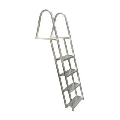 4-Step Angled Wide 5-1/2 in. Aluminum Dock Ladder