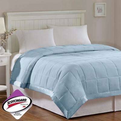 Prospect All Season Hypoallergenic Down Alternative Blanket Blue with 3M Scotchgard