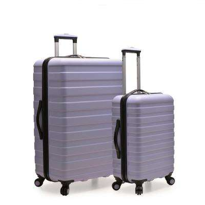 Cypress Colorful 2-Piece Lavender Small and Large Hardside Spinner Luggage Set