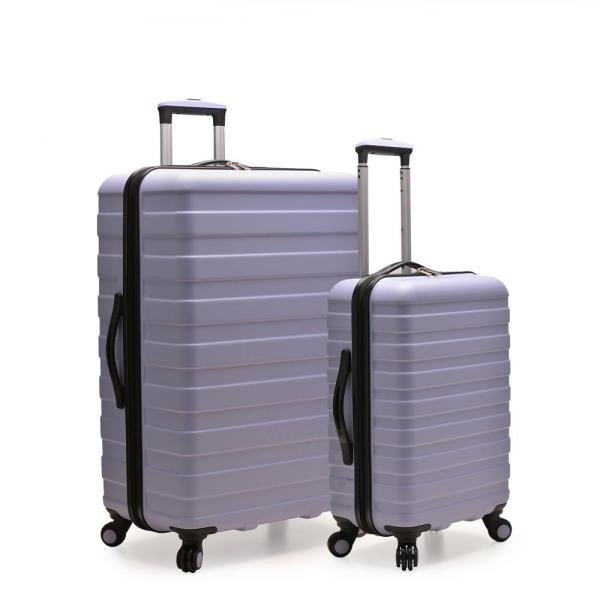 U.S. Traveler Cypress Colorful 2-Piece Lavender Small and Large Hardside Spinner