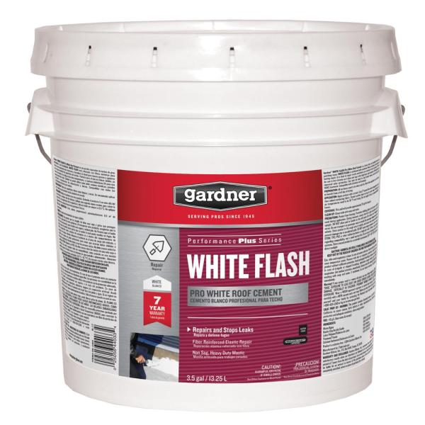 Gardner 3 5 Gal White Flash Pro White Reflective Roof Coating Cement Sk 4403 The Home Depot