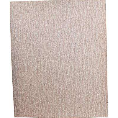 4-1/2 in. x 5-1/2 in. 80-Grit Abrasive Paper (5-Pack) For Use With 1/4 Sheet Finishing Sanders