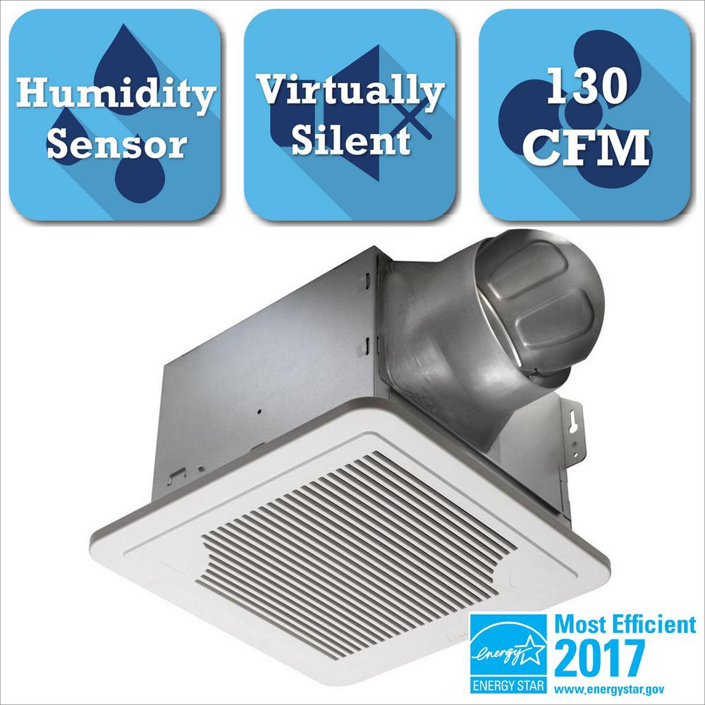 Delta Breez Smart Series 130 CFM Ceiling Exhaust Bath Fan with Adjustable Humidity Sensor and Speed Control