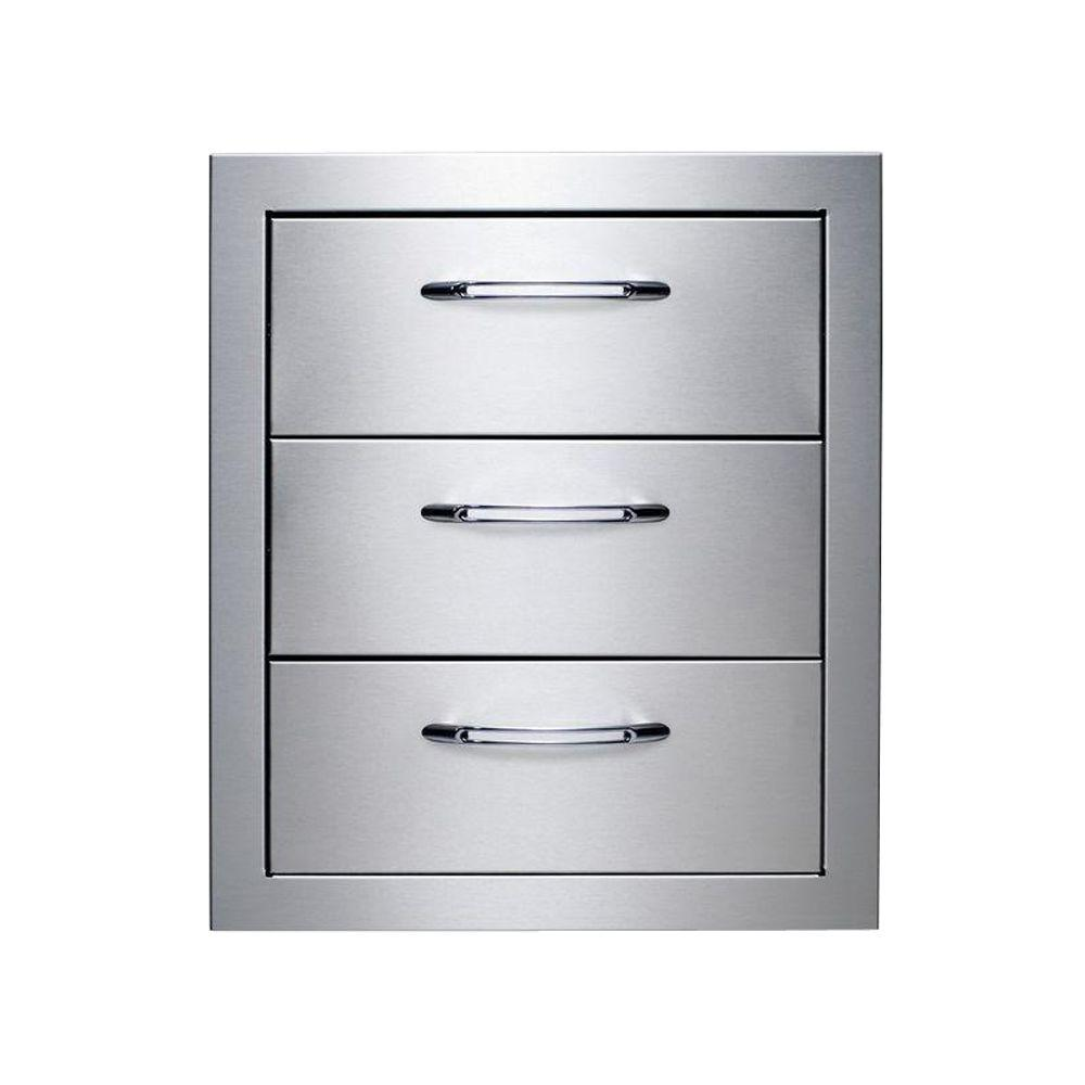 Precision Stainless Steel Built-In 3-Drawer System