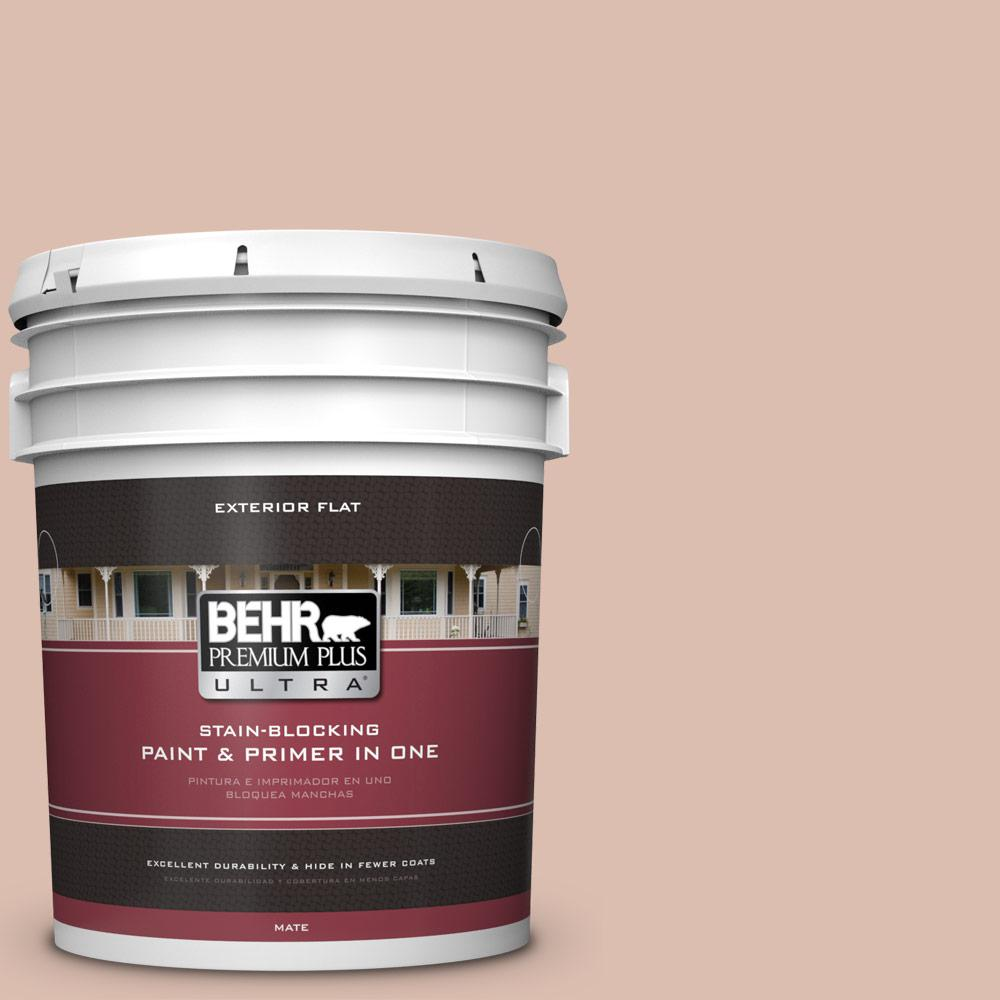 5 gal. #MQ1-23 One To Remember Flat Exterior Paint and Primer