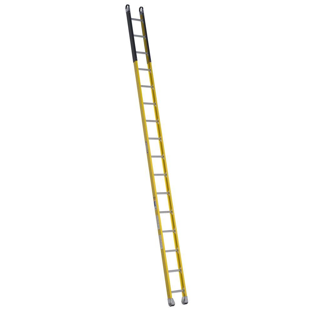 Werner 16 ft. Fiberglass Manhole Extension Ladder with 375 lb. Load Capacity Type IAA Duty Rating