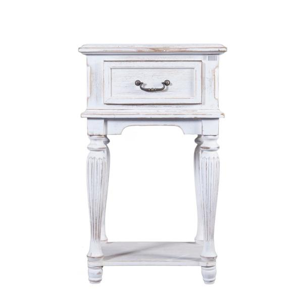 Winsome House Small White Wood End Table